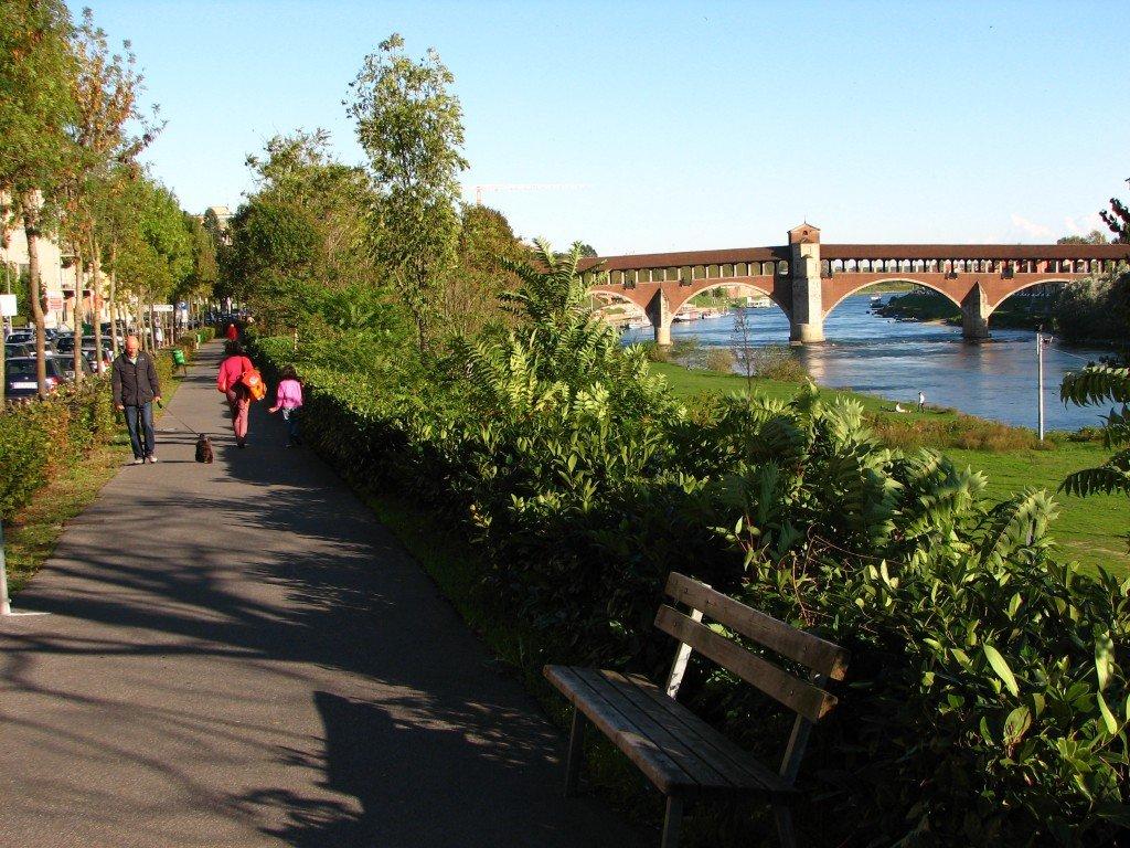 Historical bridge of Pavia, Einstein's nostalgia