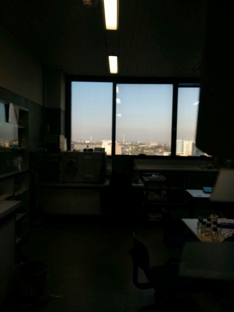 A view of Milan, through an office, from the seventh floor of LITA