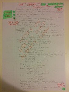 sample page of study notes