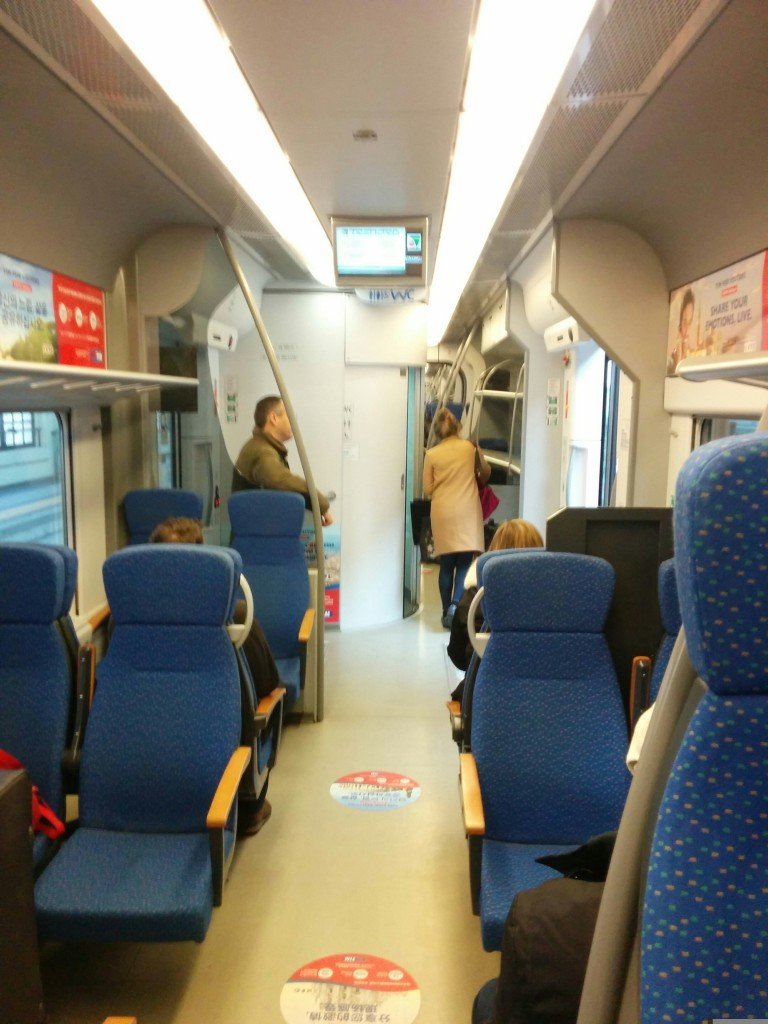 Inside the Malpensa Express