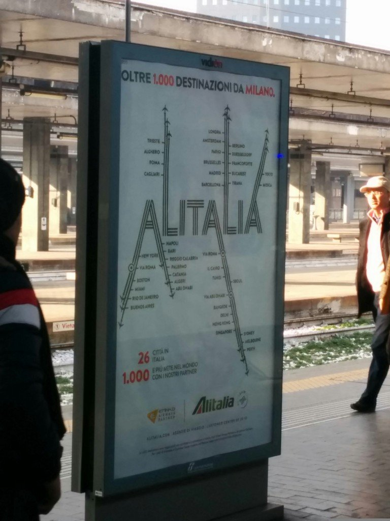 Alitalia billboard