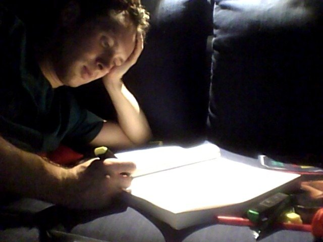 Me studying