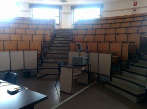 The testing hall