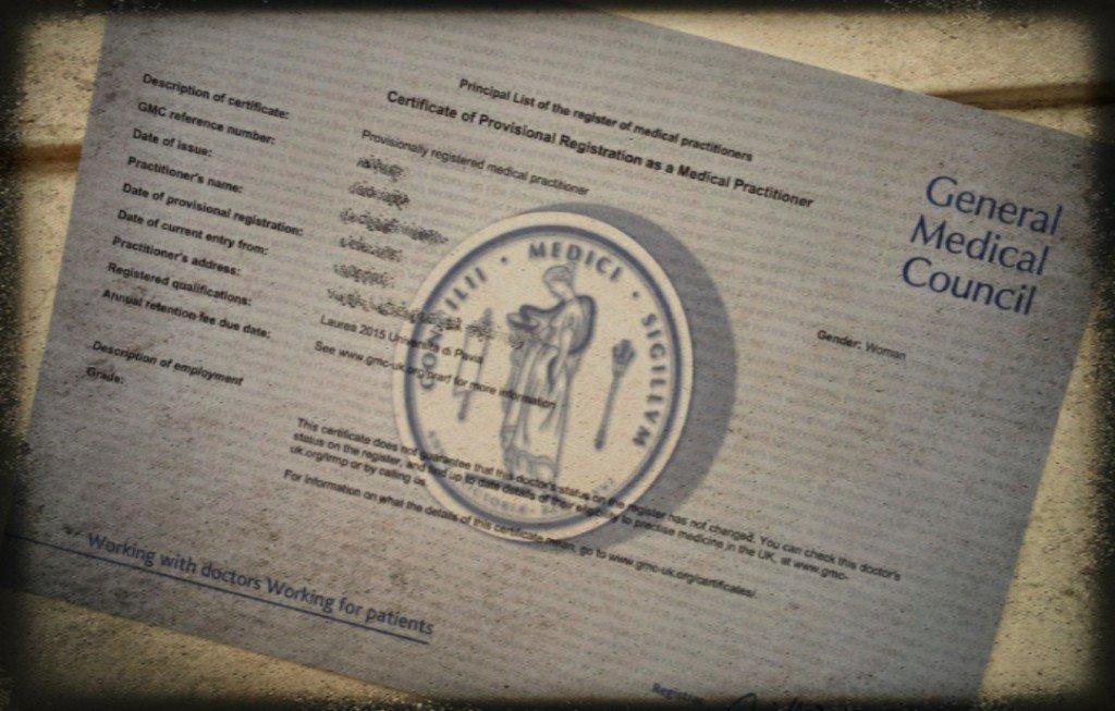 UK GMC provisional registration