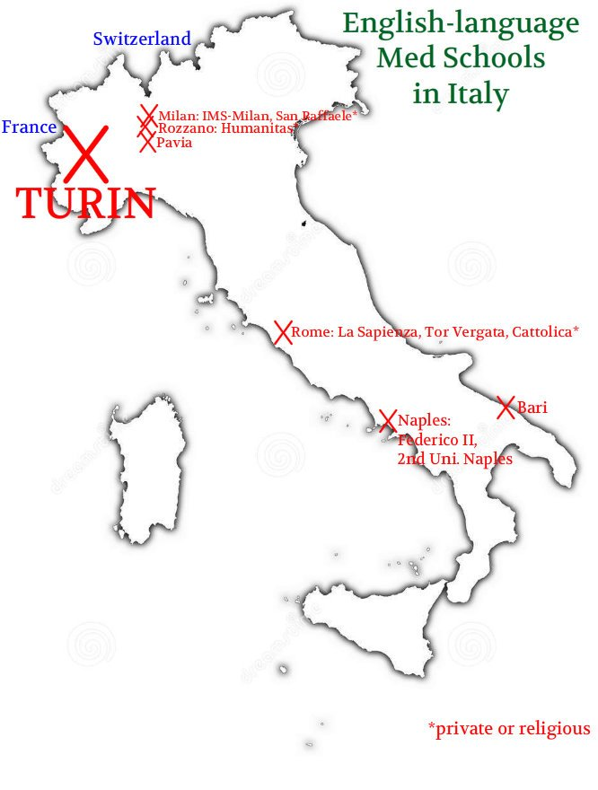 City Map Of Italy In English.A Visit To The New English Med School In Turin Medical Schools In