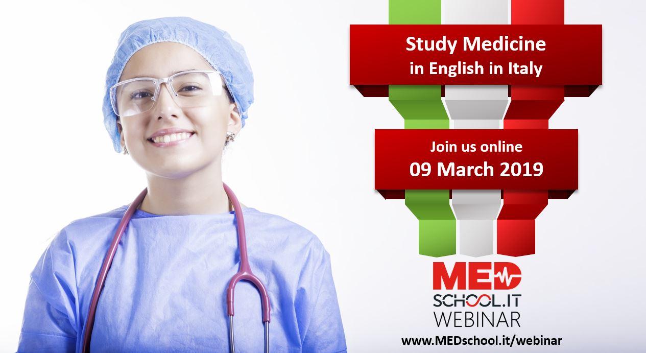 Study medicine in Italy Webinar 2019