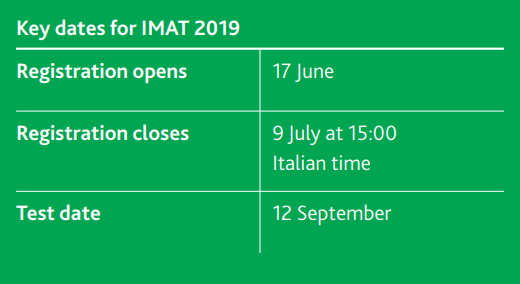 IMAT registration date