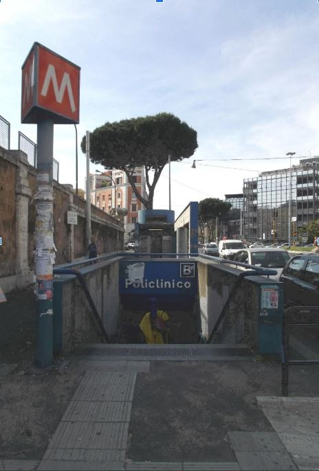 This is the Policlinico Metro stop in Rome.